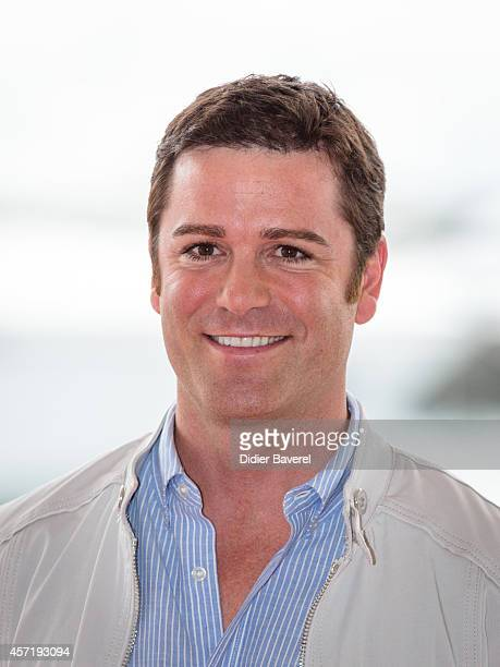 Yannick Bisson poses during the photocall of 'Murdoch Mysteries' at Mipcom 2014 on October 13 2014 in Cannes France