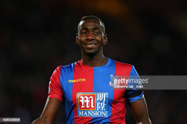 Yannick Bolaise of Crystal Palace during the Barclays Premier League match between Crystal Palace and Sunderland at Selhurst Park on November 23 2015...
