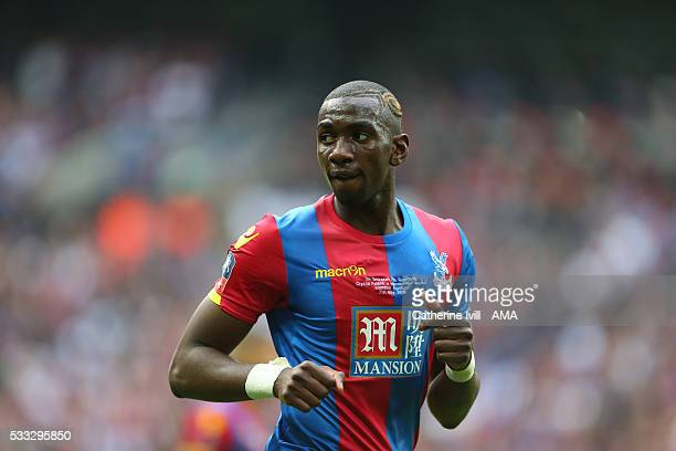 Yannick Bolaise of Crystal Palace during The Emirates FA Cup final match between Manchester United and Crystal Palace at Wembley Stadium on May 21...