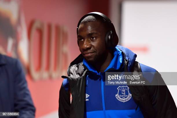 Yannick Bolasie before The Emirates FA Cup Third Round match between Liverpool and Everton at the Anfield on January 5 2018 in Bournemouth England