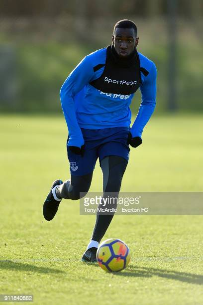 Yannick Bolasie during the Everton training session at USM Finch Farm on January 29 2018 in Halewood England