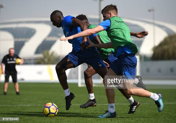 Yannick Bolasie in action during the Everton warm weather training camp at NAS Sports Complex on February 17 2018 in Dubai United Arab Emirates