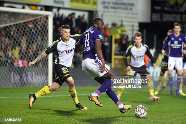 Yannick Bolasie of Anderlecht in action during the Jupiler Pro League match between KSC Lokeren OV and RSC Anderlecht at Daknamstadion on March 3...