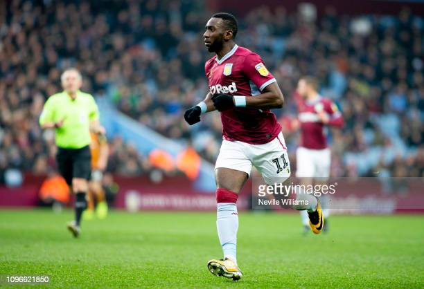 Yannick Bolasie of Aston Villa during the Sky Bet Championship match between Aston Villa and Hull City at Villa Park on January 19 2019 in Birmingham...