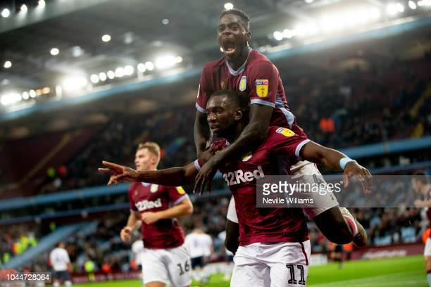 Yannick Bolasie of Aston Villa scores for Aston Villa during the Sky Bet Championship match between Aston Villa and Preston North End at Villa Park...