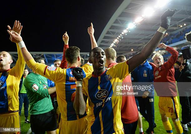 Yannick Bolasie of Crystal Palace celebrates after winning the npower Championship play off semi final second leg between Brighton Hove Albion and...