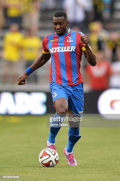 Yannick Bolasie of Crystal Palace FC controls the ball against the Columbus Crew in an international friendly match on July 23 2014 at Crew Stadium...
