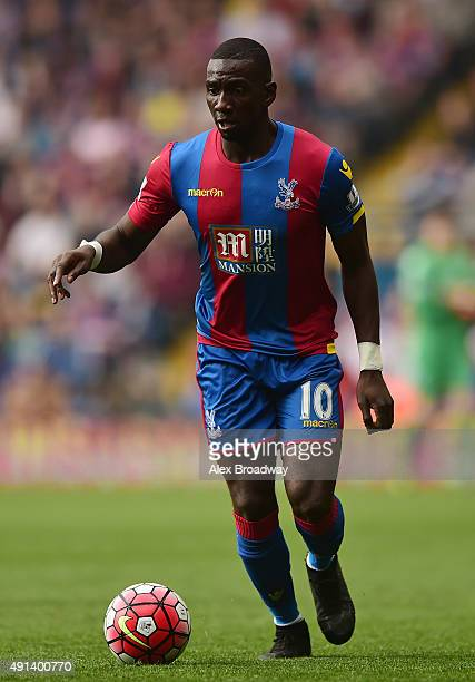 Yannick Bolasie of Crystal Palace in action during the Barclays Premier League match between Crystal Palace and West Bromwich Albion at Selhurst Park...