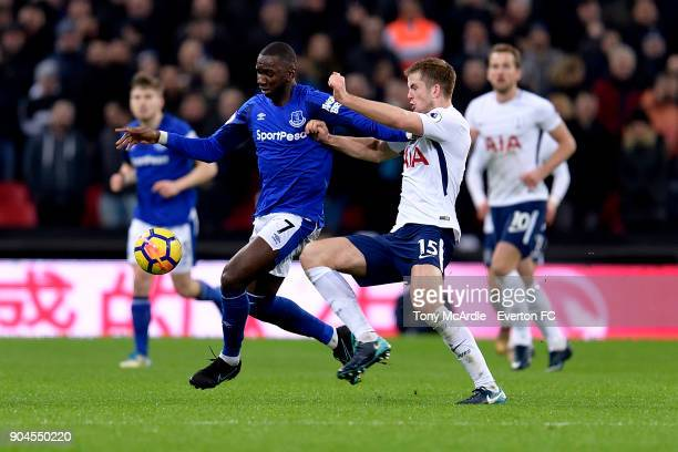 Yannick Bolasie of Everton and Eric Dier challenge for the ball during the Premier League match between Tottenham Hotspur and Everton at Wembley...