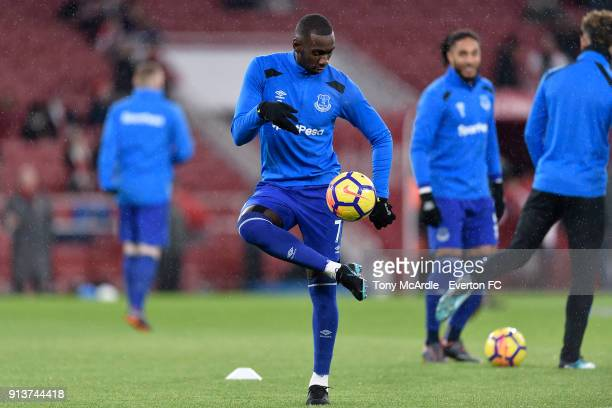 Yannick Bolasie of Everton before the Premier League match between Arsenal v Everton at Emirates Stadium on February 3 2018 in London England