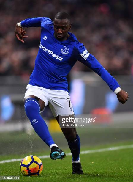 Yannick Bolasie of Everton during the Premier League match between Tottenham Hotspur and Everton at Wembley Stadium on January 13 2018 in London...