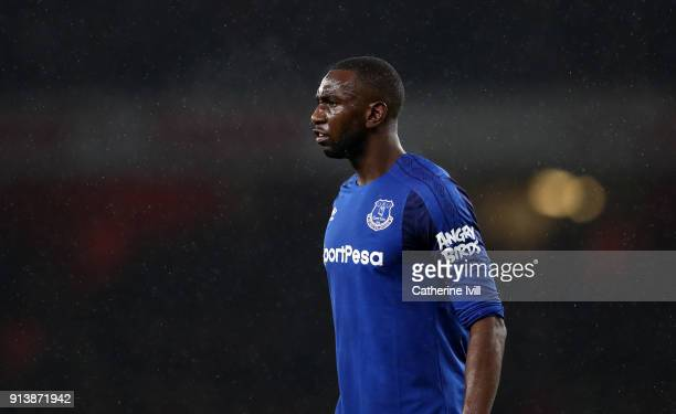 Yannick Bolasie of Everton during the Premier League match between Arsenal and Everton at Emirates Stadium on February 3 2018 in London England