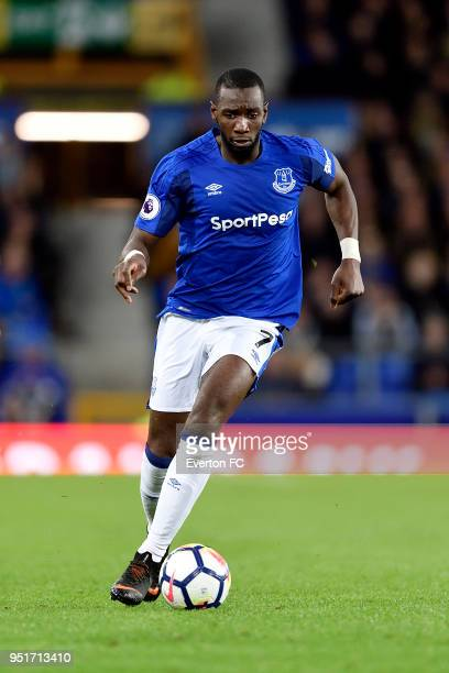 Yannick Bolasie of Everton during the Premier League match between Everton and Newcastle United at Goodison Park on April 23 2018 in Liverpool England
