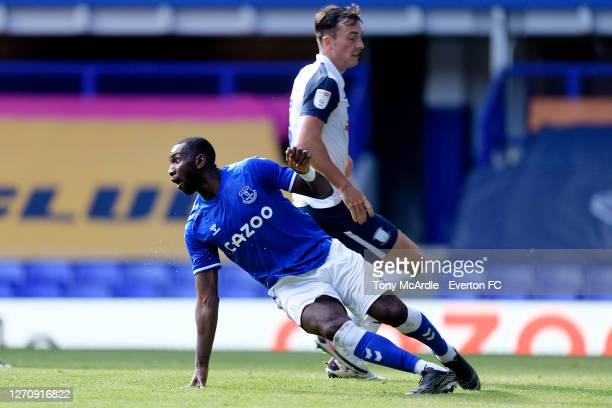 Yannick Bolasie of Everton during the PreSeason Friendly match between Everton and Preston North End at Goodison Park on September 5 2020 in...