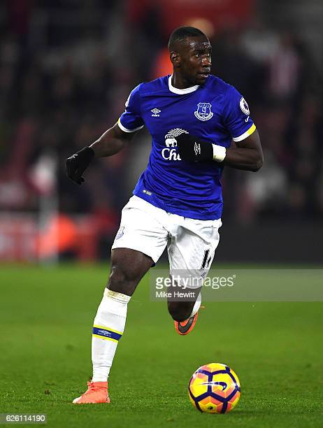 Yannick Bolasie of Everton in action during the Premier League match between Southampton and Everton at St Mary's Stadium on November 27 2016 in...