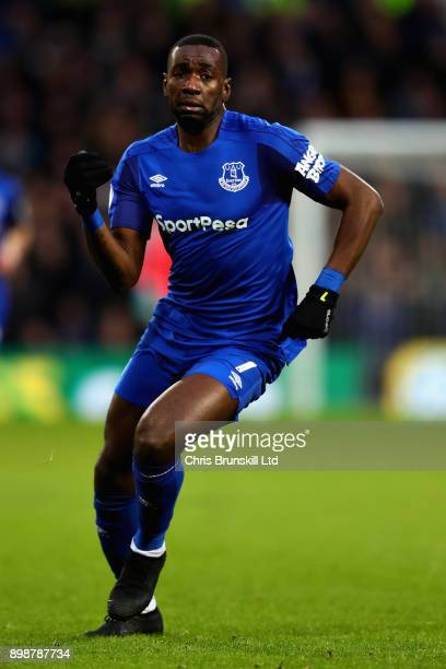 Yannick Bolasie of Everton in action during the Premier League match between West Bromwich Albion and Everton at The Hawthorns on December 26 2017 in...