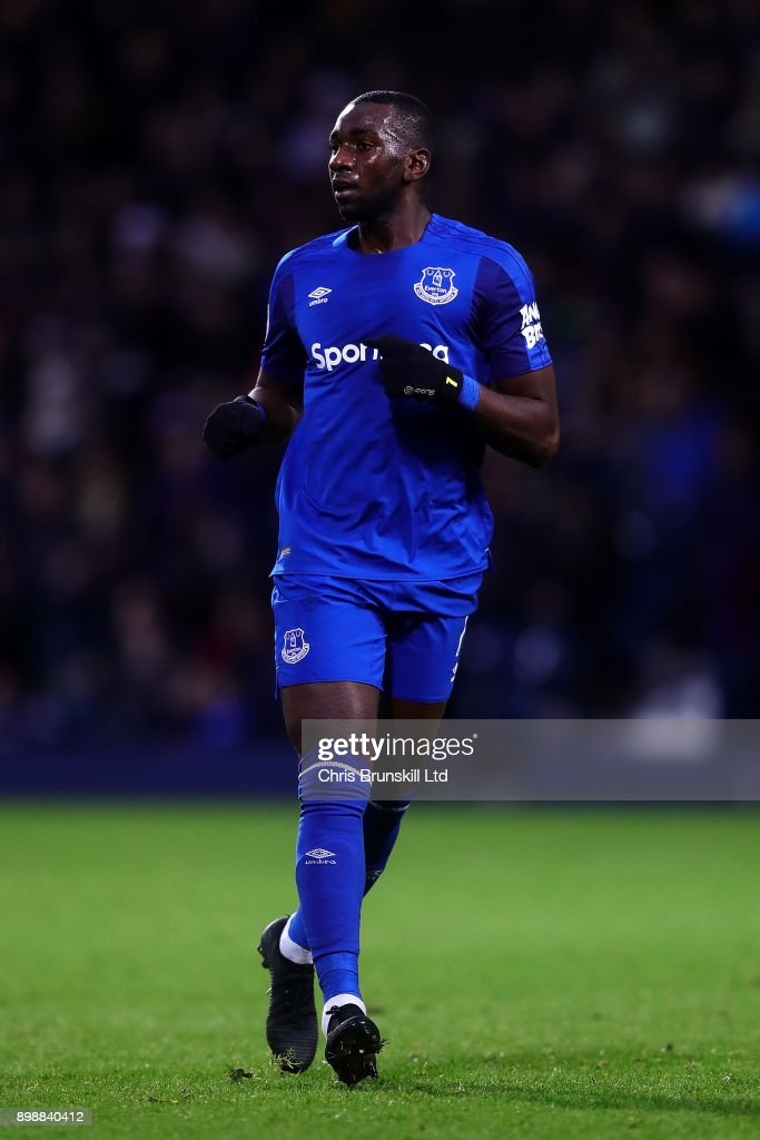 Yannick Bolasie of Everton in action during the Premier League match between West Bromwich Albion and Everton at The Hawthorns on December 26, 2017 in West Bromwich, England.