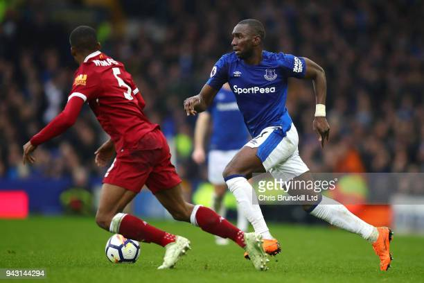 Yannick Bolasie of Everton in action during the Premier League match between Everton and Liverpool at Goodison Park on April 7 2018 in Liverpool...
