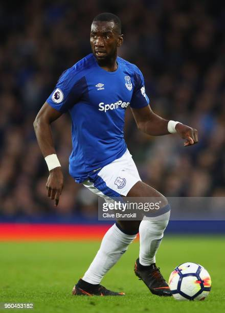 Yannick Bolasie of Everton in action during the Premier League match between Everton and Newcastle United at Goodison Park on April 23 2018 in...