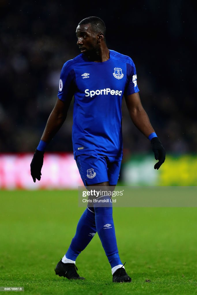Yannick Bolasie of Everton looks on during the Premier League match between West Bromwich Albion and Everton at The Hawthorns on December 26, 2017 in West Bromwich, England.