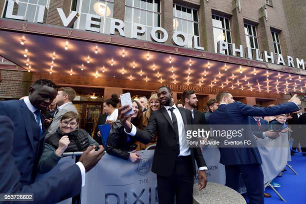 Yannick Bolasie of Everton meets fans during The Dixies end of season awards at the Royal Liverpool Philharmonic Hall on May 1 2018 in Liverpool...