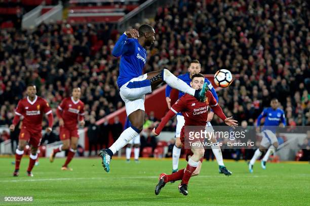 Yannick Bolasie of Everton on the ball during The Emirates FA Cup Third Round match between Liverpool and Everton at the Anfield on January 5 2018 in...