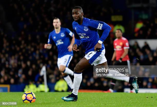 Yannick Bolasie of Everton on the ball during the Premier League match between Everton and Manchester United at Goodison Park on January 1 2018 in...