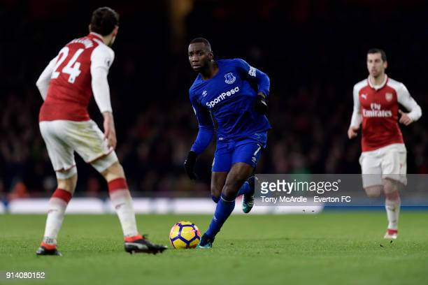 Yannick Bolasie of Everton on the ball during the Premier League match between Arsenal and Everton at Emirates Stadium on February 3 2018 in London...