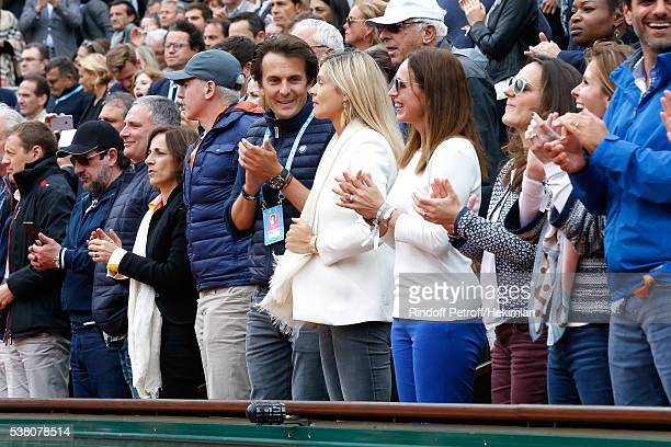 Yannick Bollore and his wife Chloe attend Day Fourteen Women single's Final of the 2016 French Tennis Open at Roland Garros on June 4 2016 in Paris...