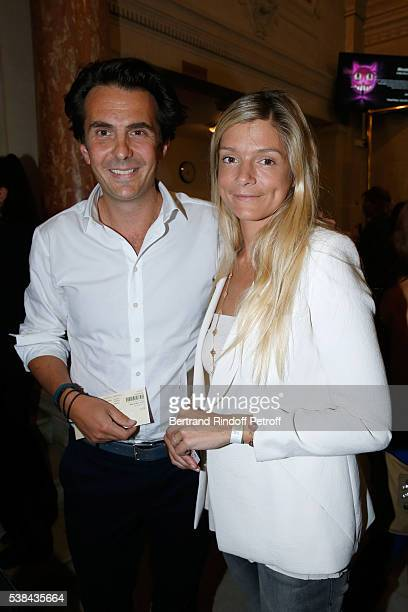 Yannick Bollore and his wife Chloe attend the Concert of Patrick Bruel at Theatre Du Chatelet on June 6 2016 in Paris France