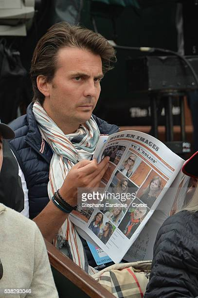 Yannick Bollore attends the French Tennis Open Day Fifteen with the Final between Novak Djokovic and Andy Murray at Roland Garros on June 5 2016 in...