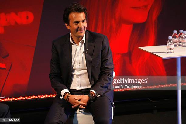 Yannick Bollore Global Chairman CEO Havas during Yannick Bollore Live part of Advertising Week Europe 2016 day 2 at Picturehouse Central on April 19...