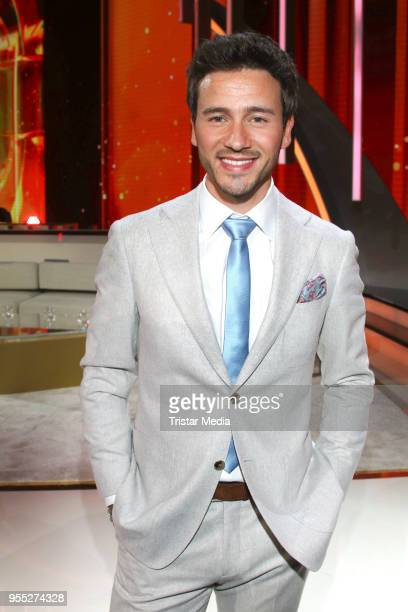 Yannick Bovy during the tv show 'Willkommen bei Carmen Nebel' at SachsenArena on May 5 2018 in Riesa Germany
