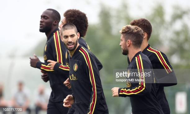 Yannick Carrasco during a Belgium training session at the Belgian National Football Center on September 5 2018 in Tubize Belgium
