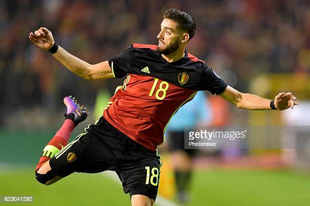 Yannick Carrasco forward of Belgium in action during the World Cup Qualifier Group H match between Belgium and Estonia at the King Baudouin Stadium...