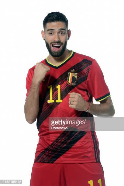 Yannick Carrasco forward of Belgium pictured during a photo session presenting the new jersey of the Belgian National Football Team prior to the Euro...