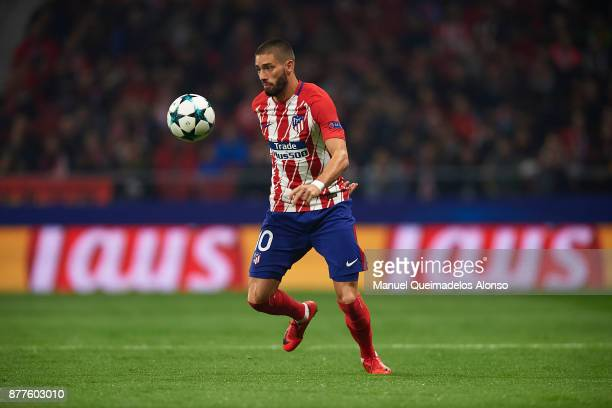 Yannick Carrasco of Atletico de Madrid in action during the UEFA Champions League group C match between Atletico Madrid and AS Roma at Estadio Wanda...