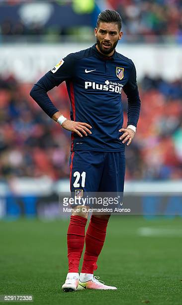 Yannick Carrasco of Atletico de Madrid looks on during the La Liga match between Levante UD and Atletico de Madrid at Ciutat de Valencia on May 8...