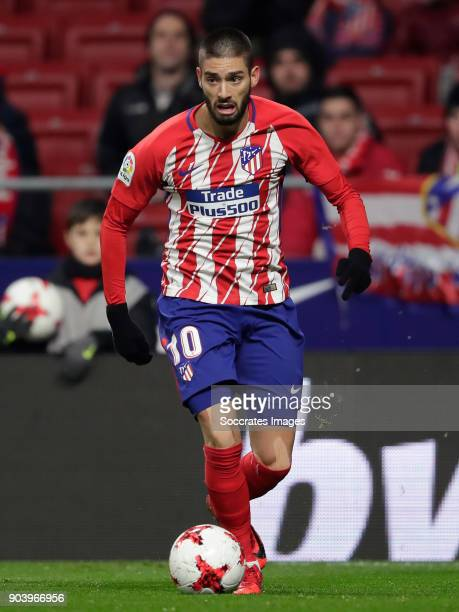 Yannick Carrasco of Atletico Madrid during the Spanish Copa del Rey match between Atletico Madrid v Lleida on January 9 2018