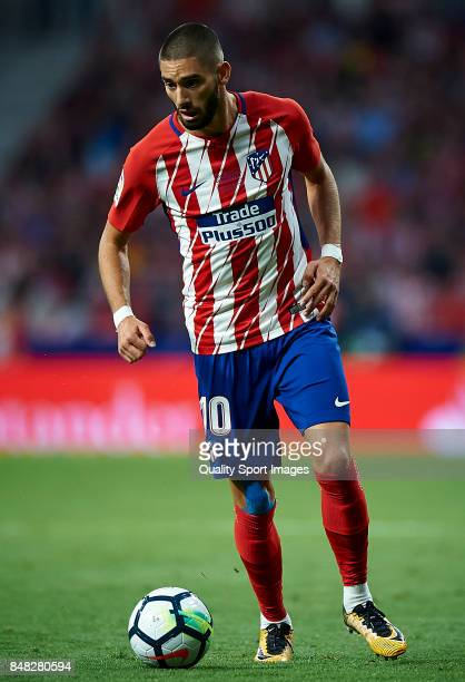 Yannick Carrasco of Atletico Madrid in action during the La Liga match between Atletico Madrid and Malaga at Wanda Metropolitano stadium on September...