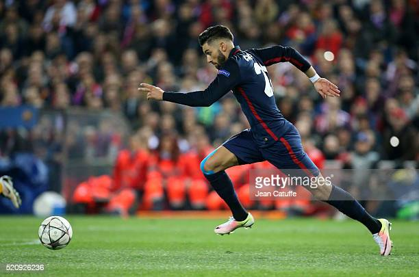 Yannick Carrasco of Atletico Madrid in action during the UEFA Champions League quarter final second leg match between Atletico Madrid and FC...