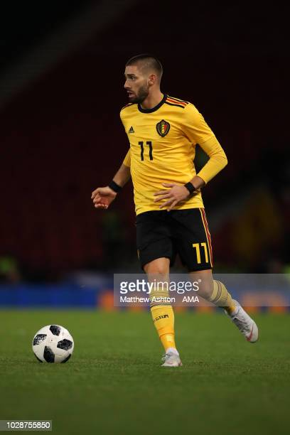 Yannick Carrasco of Belgium during the International Friendly match between Scotland and Belgium on September 7 2018 in Glasgow United Kingdom