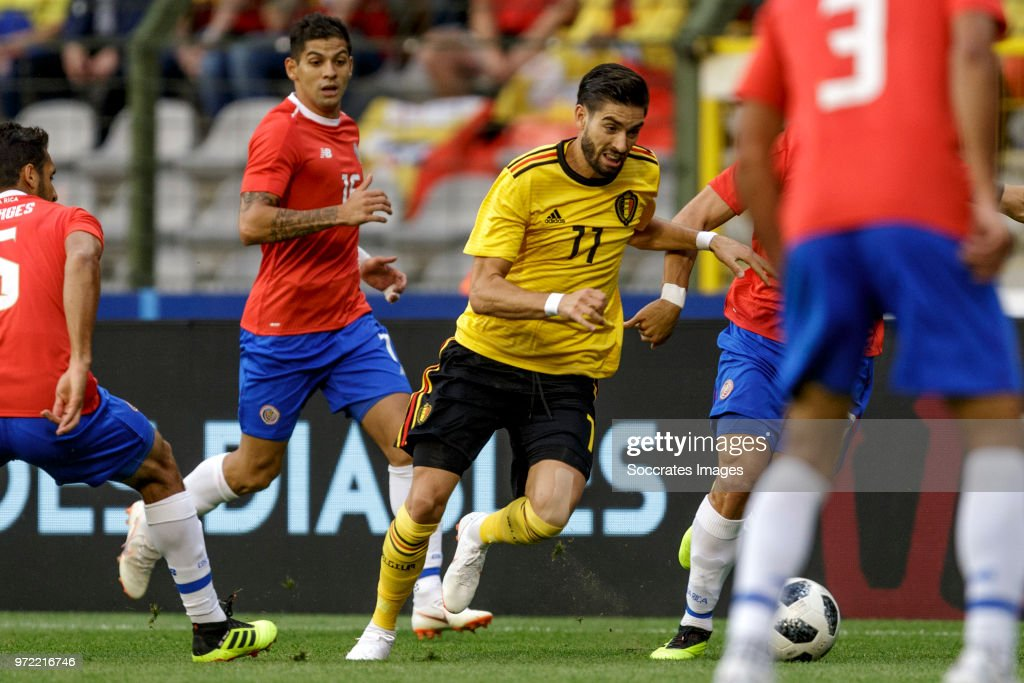 Yannick Carrasco of Belgium during the International Friendly match between Belgium v Costa Rica at the Koning Boudewijnstadion on June 11, 2018 in Brussel Belgium