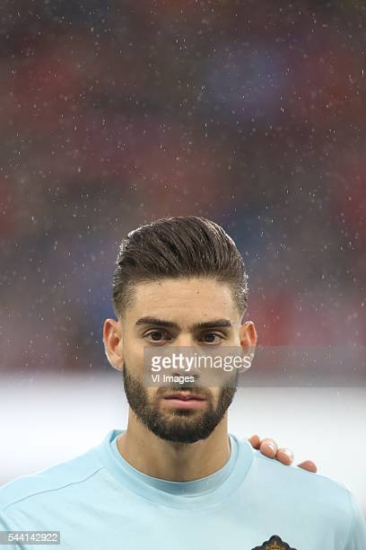 Yannick Carrasco of Belgium during the UEFA EURO 2016 quarter final match between Wales and Belgium on July 2 2016 at the Stade Pierre Mauroy in...