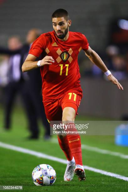 Yannick Carrasco of Belgium in action during the International Friendly match between Belgium and Netherlands at King Baudouin Stadium on October 16...