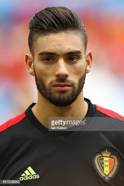 Yannick Carrasco of Belgium lookw on during the UEFA EURO 2016 Group E match between Belgium and Republic of Ireland at Stade Matmut Atlantique on...