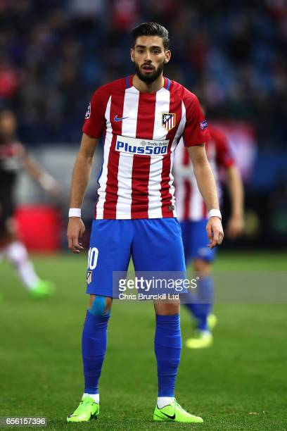 Yannick Carrasco of Club Atletico de Madrid looks on during the UEFA Champions League Round of 16 second leg match between Club Atletico de Madrid...