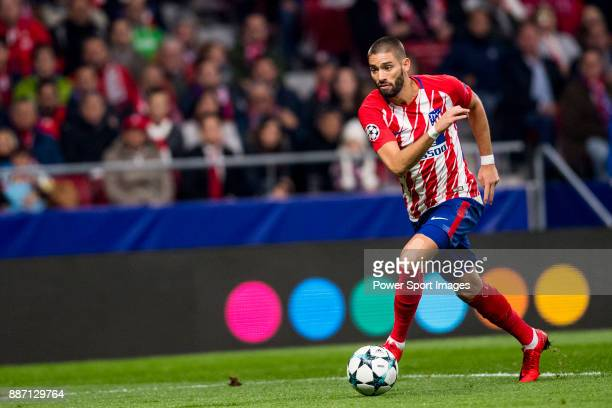 Yannick Ferreira Carrasco of Atletico de Madrid runs with the ball during the UEFA Champions League 201718 match between Atletico de Madrid and AS...