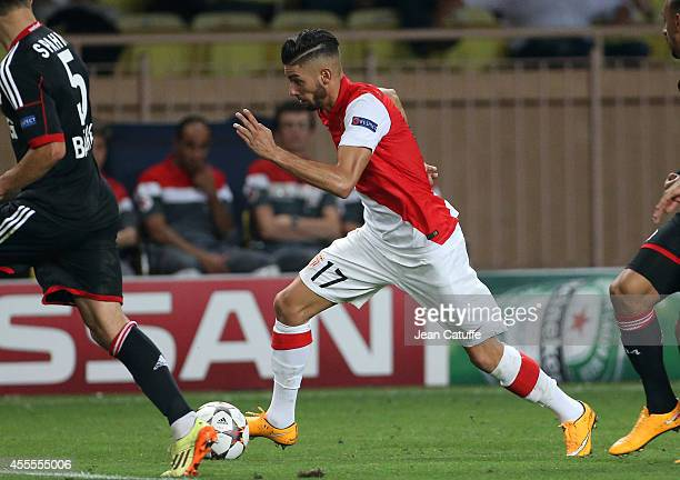 Yannick Ferreira Carrasco of Monaco in action during the UEFA Champions League Group C match between AS Monaco FC and Bayer 04 Leverkusen at Louis II...