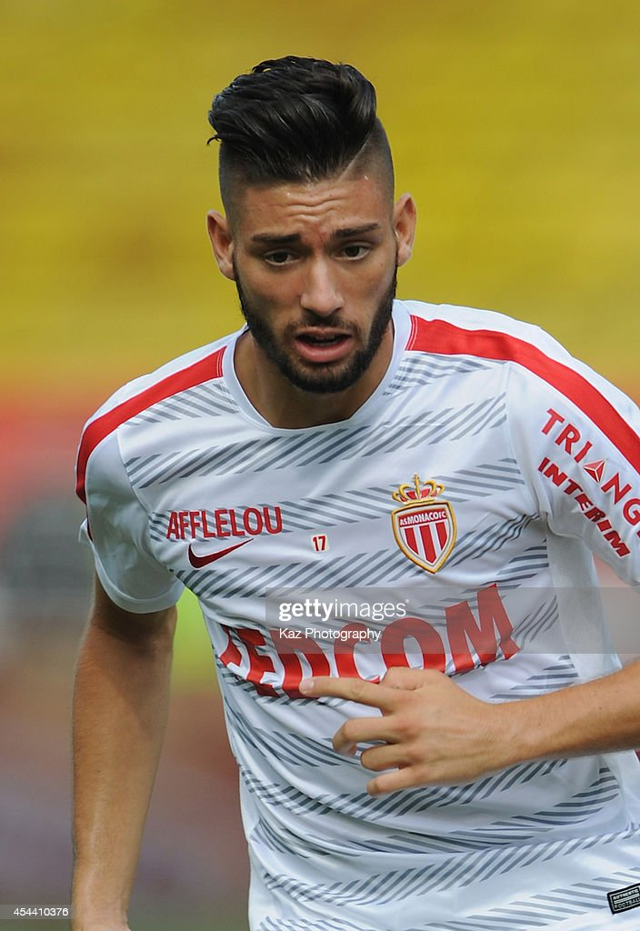 Yannick Ferreira Carrasco of Monaco warms up prior to the French Ligue 1 match between AS Monaco FC and LOSC Lille at Louis II Stadium on August 30, 2014 in Monaco, Monaco.